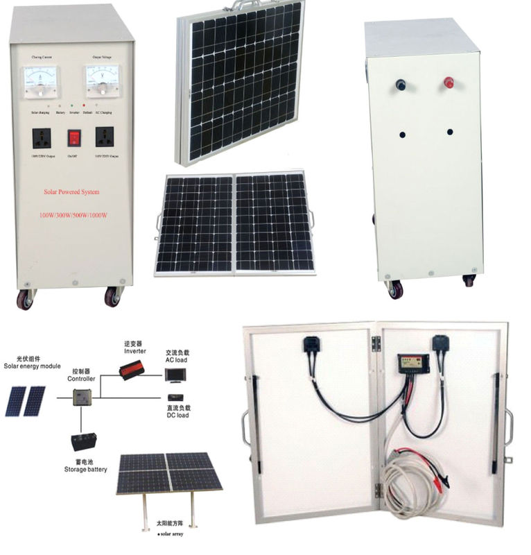 Solar Power System For Homes Design Finished With Power Source And