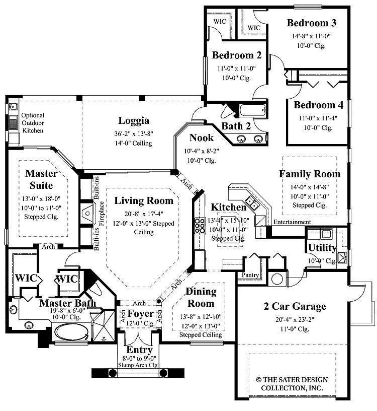 Interior design ideas architecture blog modern design for 1 level house plans with 2 master suites