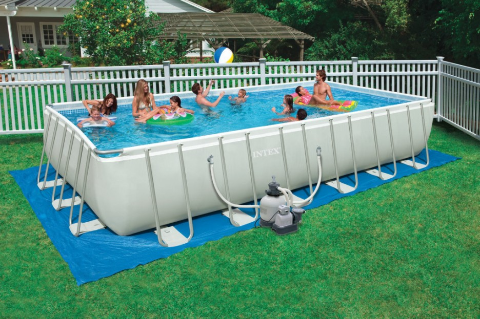 Pool: Minimalist Portable Swimming Pools Design With Grey Color ...