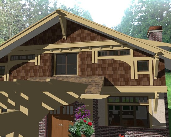 ... Exterior Design Of Craftsman Style Home With Excellent Combination Of