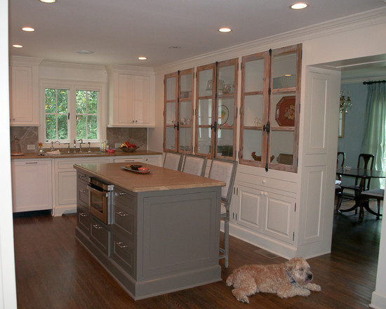 Wonderful White Mountain House Designed in Modern Building Style: Powerful Kitchen Island With Seating Design In Mountain Brook Road Home Interior With Traditional Finishing Used Wooden Material For Inspiration ~ claffisica.org Architecture Inspiration