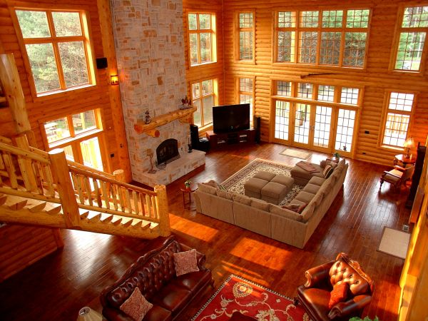 Custom Luxury Log Home Plans For Country Home Style Powerful Living