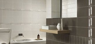 Glorious Tile Designs for Bathrooms at Home: Sensational Tile Designs For Bathrooms With Modern Large Floor Design Interior Equipped With Black Color Of Tiles