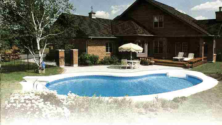 Pool: Small Inground Swimming Pools With Large Lawn Area Completed