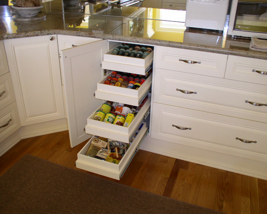 Kitchen: Smart Kitchen Storage Design Ideas Drawers In The Cabinet ...