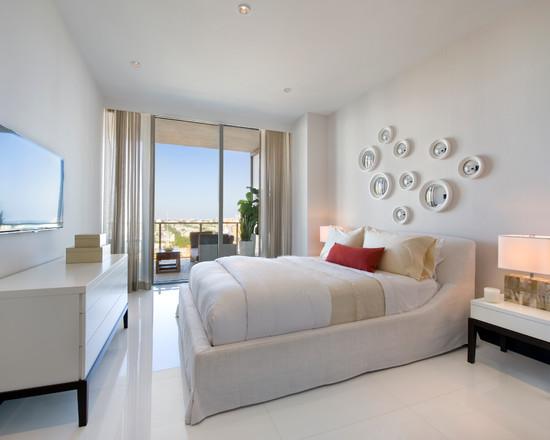 interior design in white color paint finished in minimalist modern. Black Bedroom Furniture Sets. Home Design Ideas