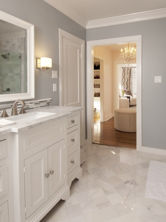 Stunning Bathroom Interior Design Applied In Old Home Remodel Equipped ...