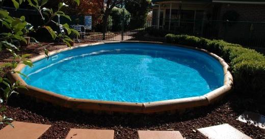 In ground pool landscaping ideas joy studio design for Pool garden edging