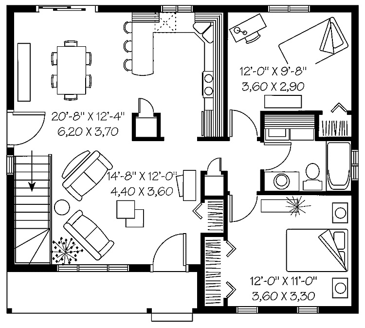 2 Bedroom Home Design BEDROOM HOUSE FLOOR PLANS Floor Plans 50