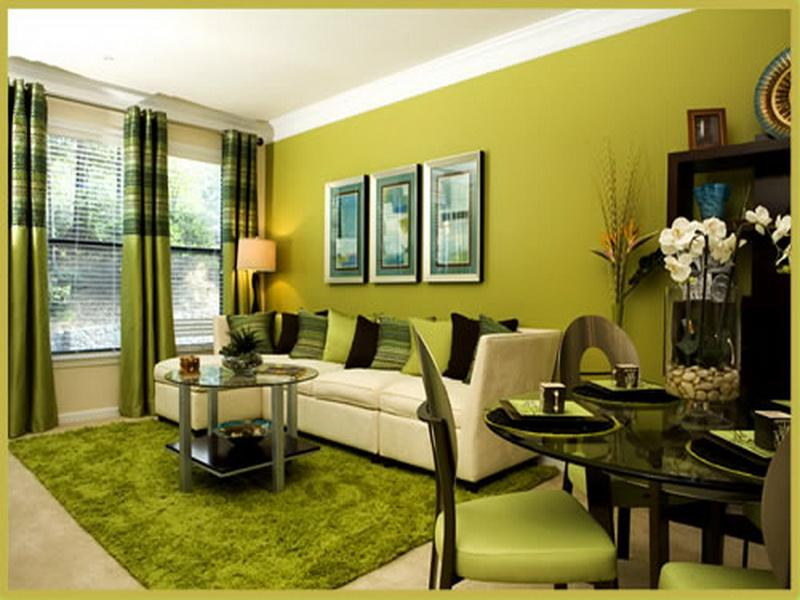 Amazing House Beautiful Paint Colors with Classic Interior: Wonderful House Beautiful Paint Colors In Green Decoration For Living Room With Modern Minimalist Style Interior