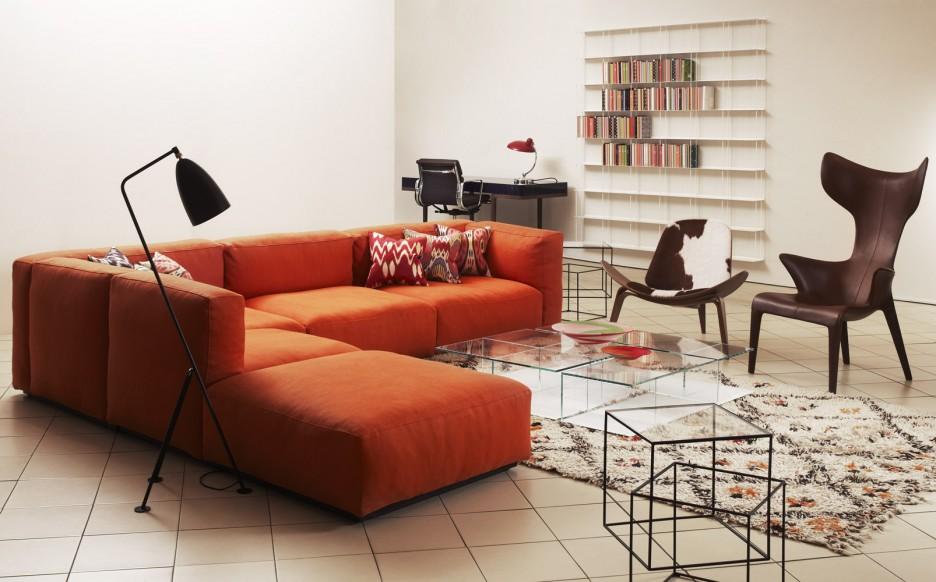 Interior design ideas architecture blog modern design for Orange sofa living room ideas