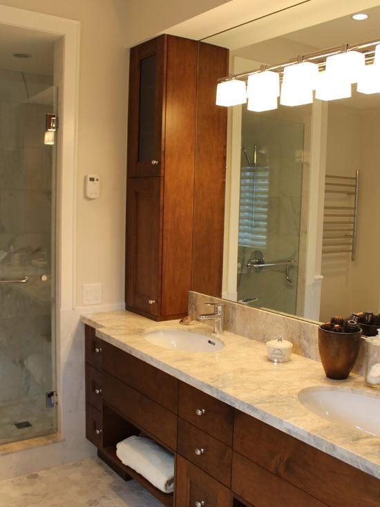 Frameless Bathroom Mirror Also Sliding Glass
