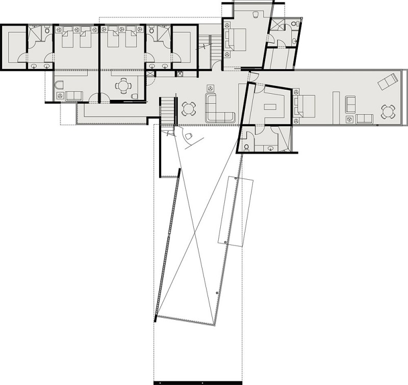 Architecture: Fascinating House Floor Plan Without Legend Showing