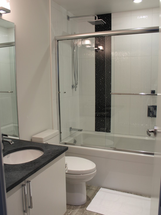 Inspiring Black And White Concept Of Contemporary Bathroom Of Modern ...