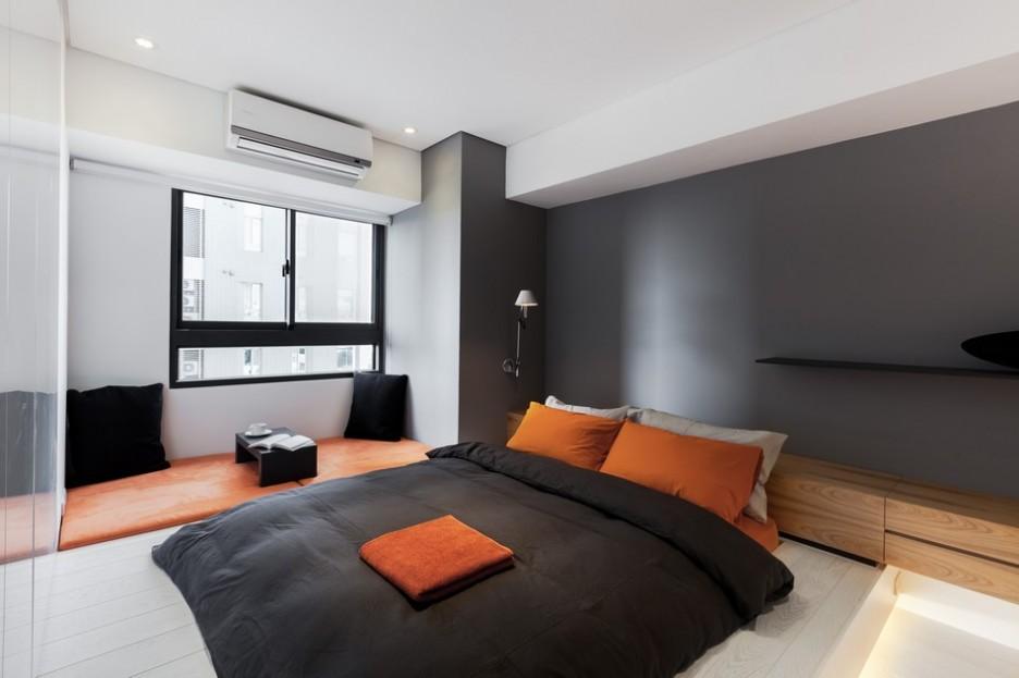 Orange And Gray Bedroom  Orange Gray Bedroom Black Room Modern Minimalist  Silver. Orange And Gray Bedroom  Orange Gray Bedroom Dining Room Accent