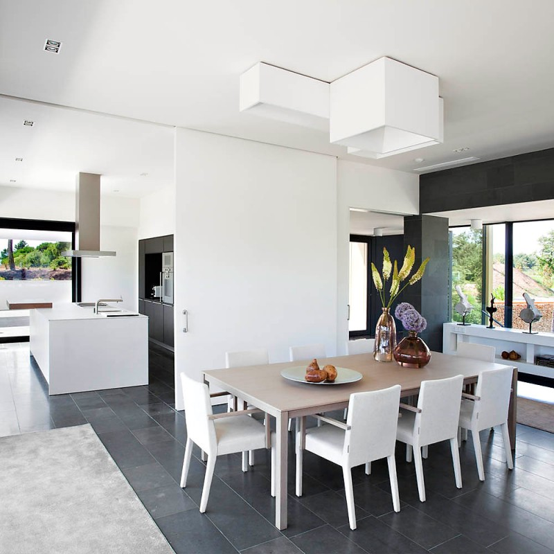 Vinya volume storey house by lagula arquitectes white interior design