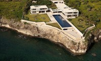 House Models Plans for Amazing Holiday : Astonishing Residence At Coast Landscape Overlooking The Sea Surrounded By Green Lawn And Bush At Casa Kimball With Swimming Pool