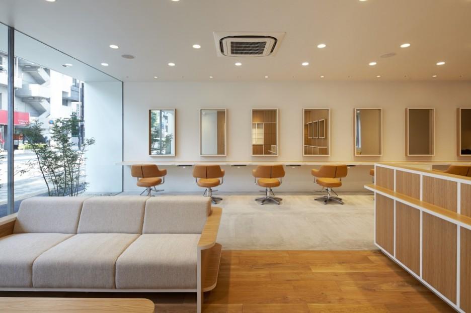 inspired hair salon interior home design inside. Black Bedroom Furniture Sets. Home Design Ideas