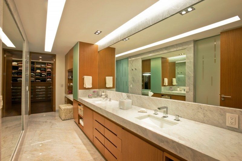 Amazing Modern Walk In Closet Modern Vanity With Marble Countertop Connected To Walk In Closet Image
