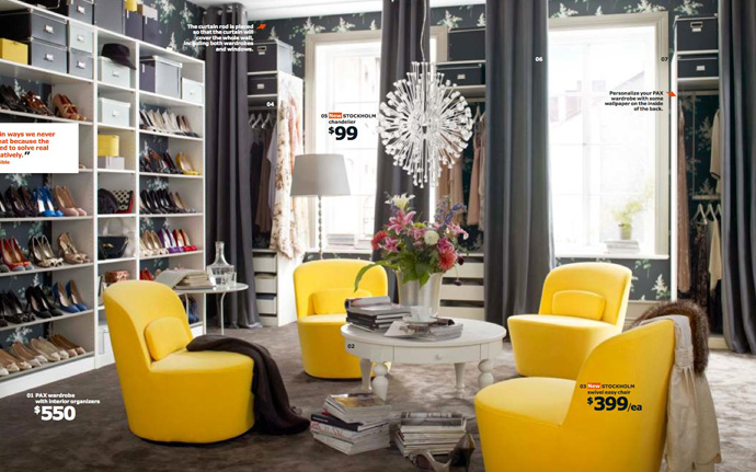 Decoration: Luxury Yellow Chairs And Circular Table In Ikea ...