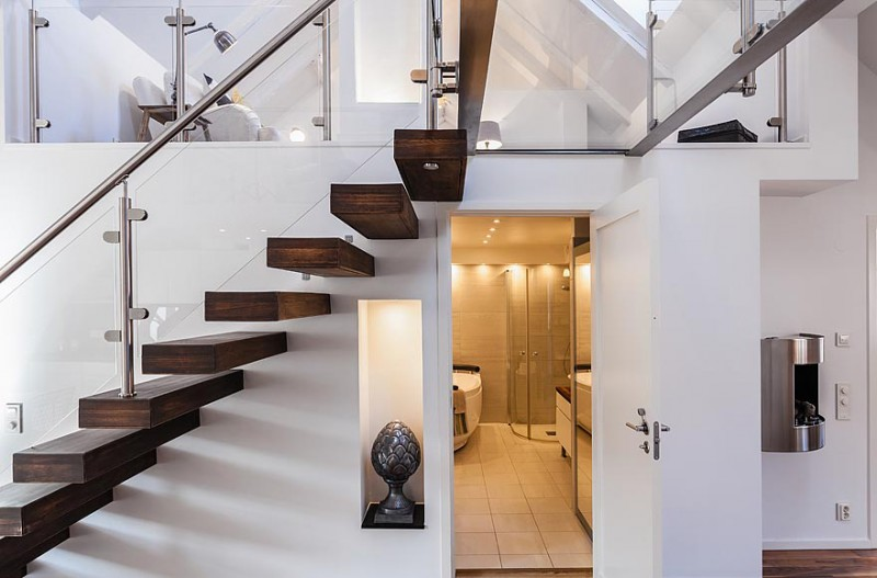 Bathroom under stairs design home decoration live for Bathroom designs under stairs