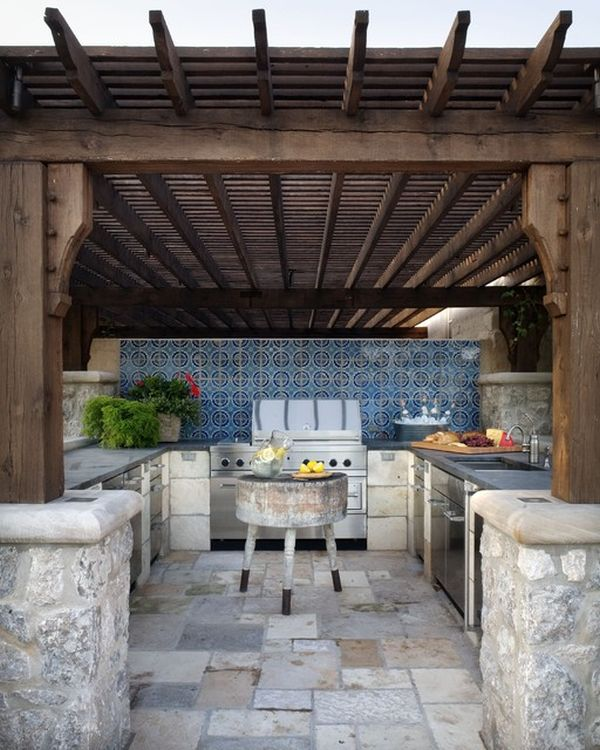 403 forbidden for Outdoor kitchen backsplash ideas