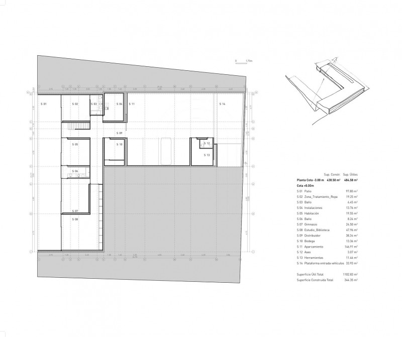 : Smart Atrium House Floor Plan Design With Hallway Connecting Some ...