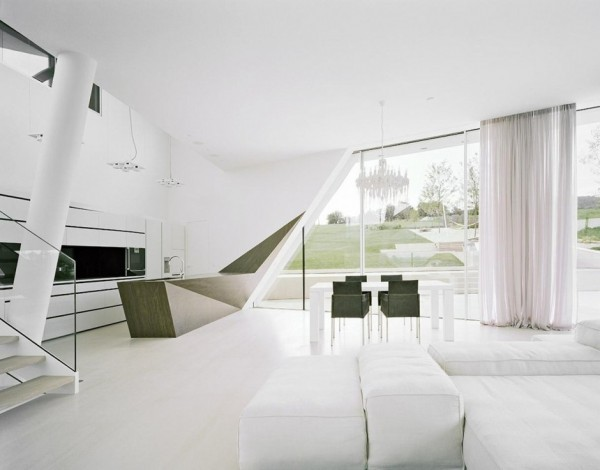 Style Kitchen Simple Futuristic Futuristic Villa Design In Sculptural Architecture And Simple Interior