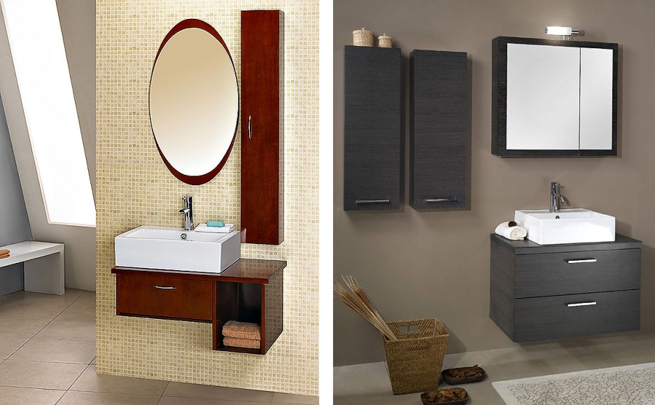 Creative Furniture Silver Grey Wood White Carrara Marble 48inch Bathroom