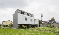 Modern Japanese Architecture Home Gives Inspiring Design Idea: Naturally Architecture Kawate Residence Home Design Exterior Used Small Home Shaped In Contemporary Decoration Ideas