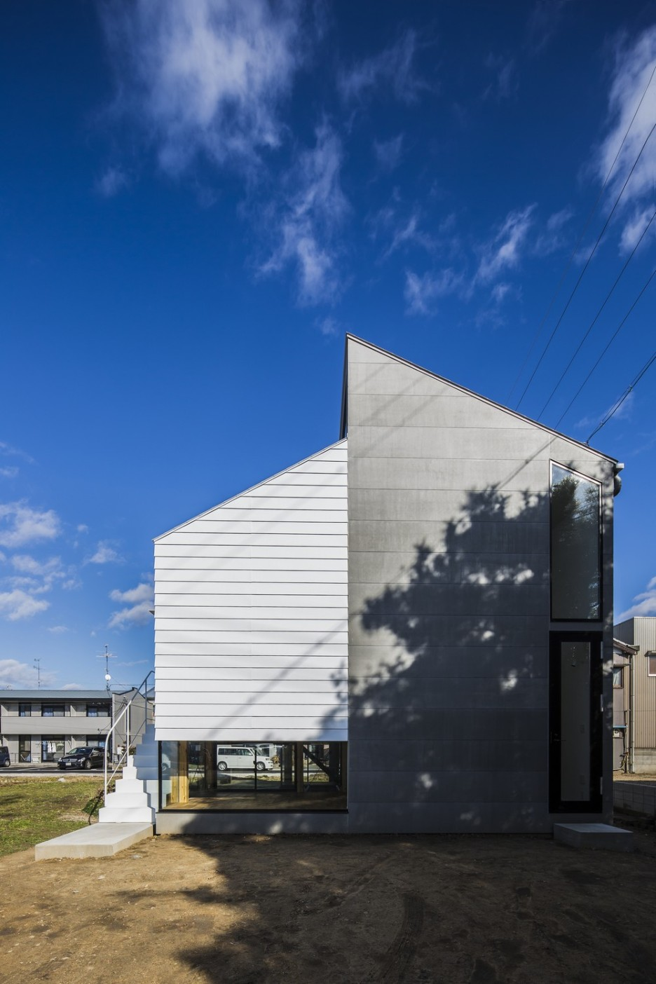 Modern Japanese Architecture Home Gives Inspiring Design Idea: Unique Kawate Residence Home Design Exterior Used Small Home Shaped Decoration In Contemporary Decoration Ideas For Home Inspiration