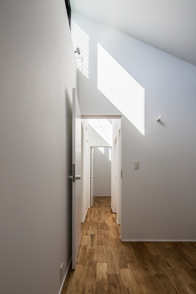 Modern Japanese Architecture Home Gives Inspiring Design Idea: Wonderful Kawate Residence Home Design Interior In Hallway Decorated With Wooden Flooring And White Wall Color Design Ideas For Inspiration ~ claffisica.org Architecture Inspiration