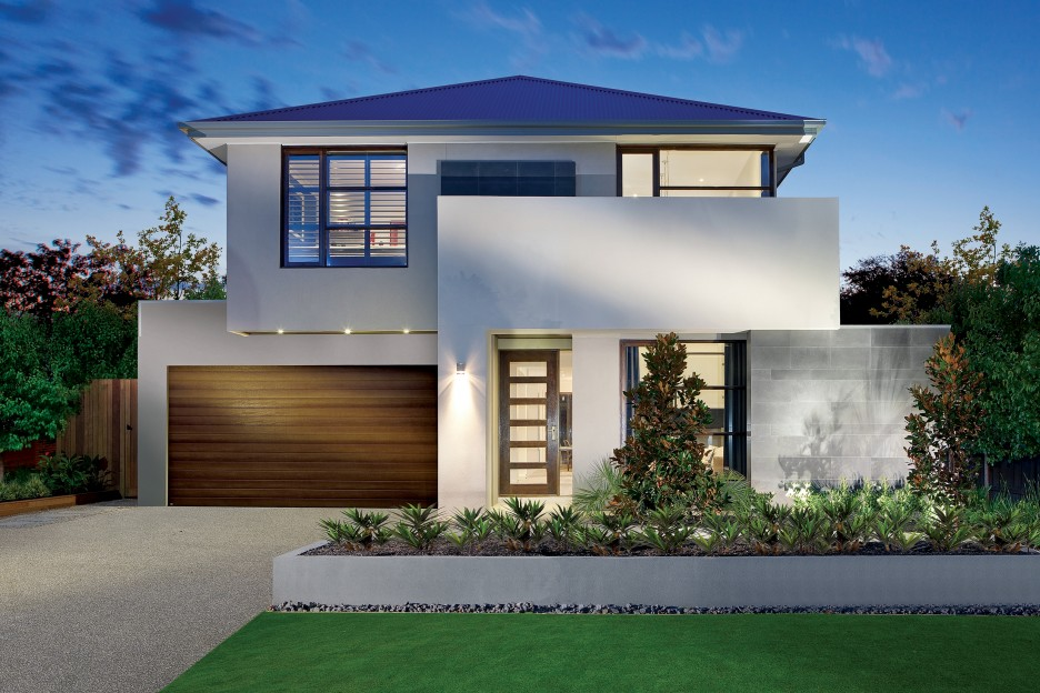 House Plans with Pools and Outdoor Kitchens for Rear Home Idea: Luxurious Front Yard Design Of Modern House Plans With Pools Located In Bristol With Natural Green View Of Front Area