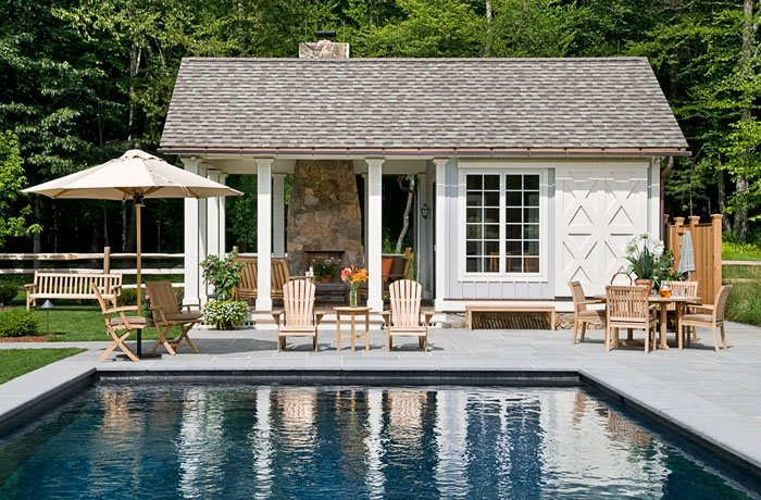 House Plans with Pools and Outdoor Kitchens for Rear Home Idea: Small Modern House Plans With Pools Outdoor Wood Furniture Finished In Modern Design With Wooden Material Of Furntiure