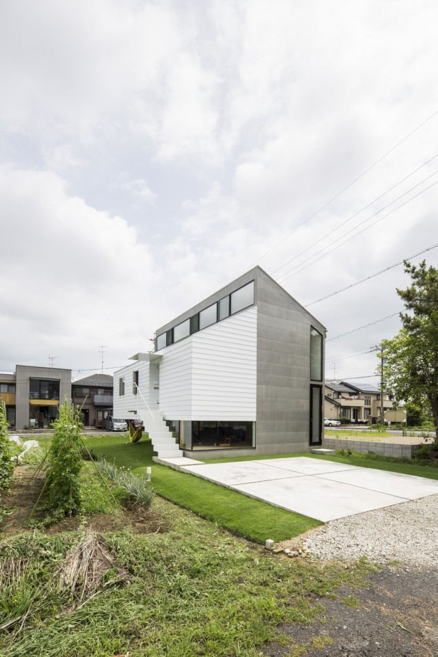 Modern Japanese Architecture Home Gives Inspiring Design Idea: Amazing Design Kawate Residence Home Design Exterior Used Small Home Shaped With Contemporary Style And Green Landscaping Decor ~ claffisica.org Architecture Inspiration