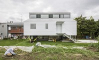 Modern Japanese Architecture Home Gives Inspiring Design Idea : Beautiful Eterior Kawate Residence Home Design Used Small Home Shaped With Wooden White Wall Decoration Ideas For Home Inspiration
