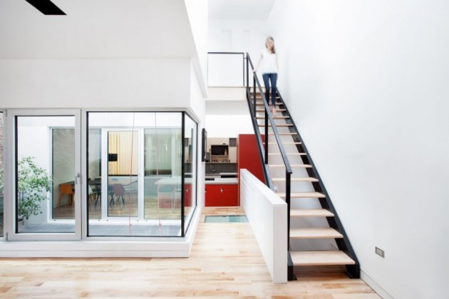 Wonderful Contemporary Home Idea with Amazing Color Choice: Elegant Staircase Design Interior With Minimalist Modern Decoration Made From Wooden Material For Home Inspiration To Your House ~ claffisica.org Architecture Inspiration