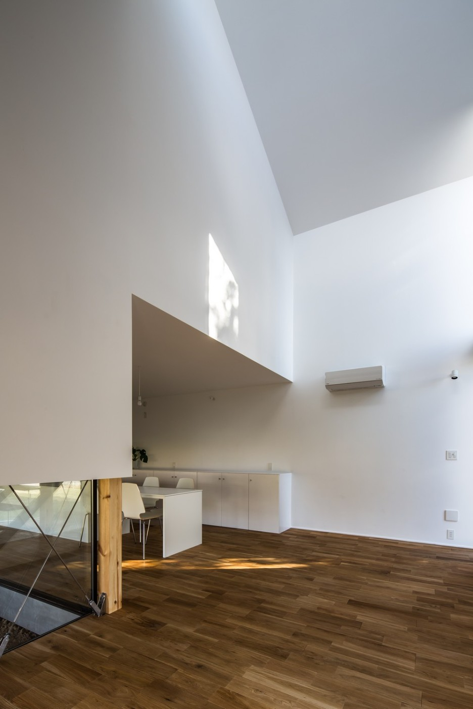 Modern Japanese Architecture Home Gives Inspiring Design Idea: Marvelous Kawate Residence Home Design Interior In Kitchen And Dining Space Used Minimalist White Furniture Design Ideas
